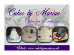 Celebration Cakes by Marian Brochure